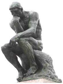 une image du penseur de Rodin